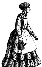 wood-engraving print: Ann for The Runaway